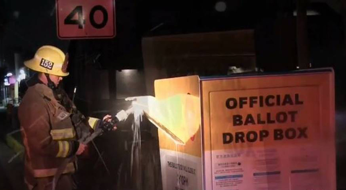FBI on notice after ballot box in major city set on fire