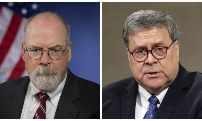 Special Counsel John Durham Making 'Significant Progress,' Barr Says