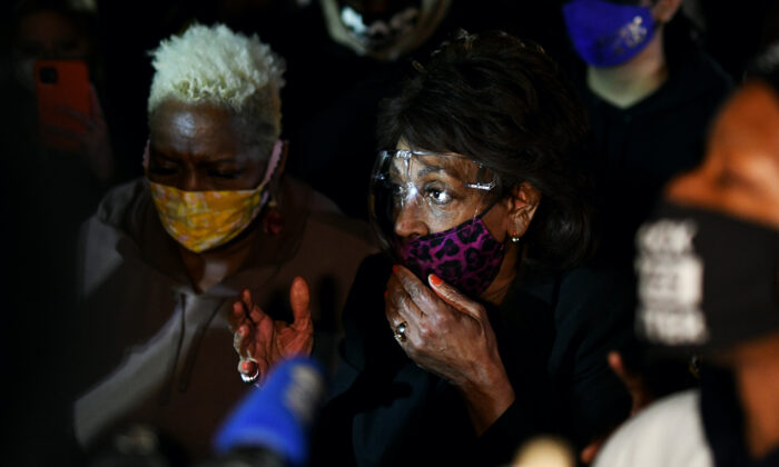 Rep. Waters: Chauvin Trial Judge Was 'Way Off Track' With Appeal Comment