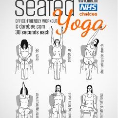 Yoga Chair Exercises For Seniors Kidkraft Table And Chairs Gym Free Workouts Nhs Seated Workout
