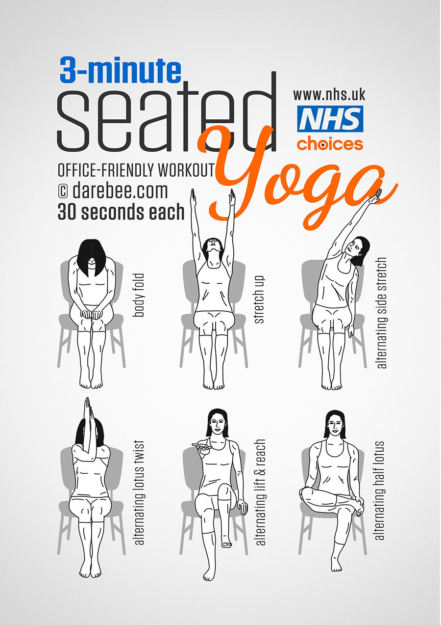 hight resolution of seated yoga workout