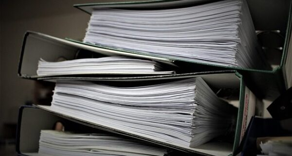 a pile of files