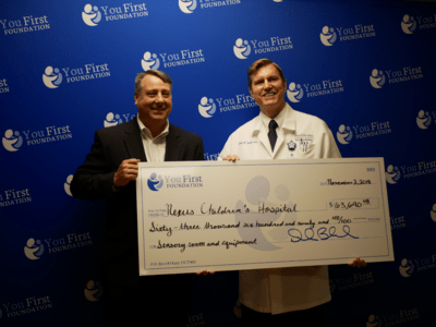 You First Foundation donates over $63k dollars to Nexus Children's Hospital