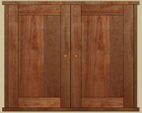 Double door medicine cabinet with mirror or solid door ...