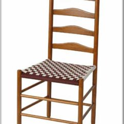 Shaker Ladder Back Chair Folding Decorative Covers Nhwoodworking Side Taped Chairs Ladderback With