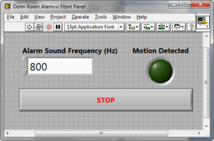 Dorm Room Alarm System Using a PIR Motion Detector, Speakers, myDAQ, and LabVIEW  National