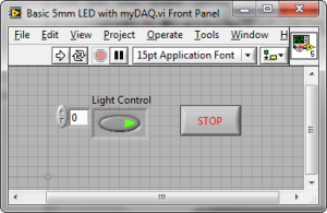 Output Light Using a Basic 5mm LED, NI myDAQ, and LabVIEW