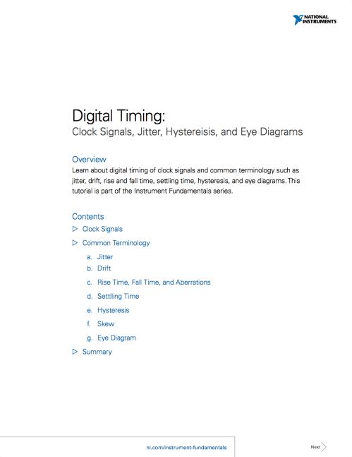 small resolution of digital timing clock signals jitter hystereisis and eye diagrams