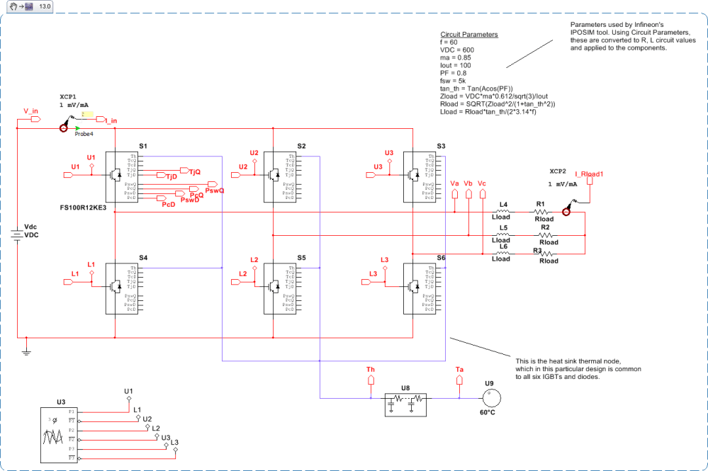medium resolution of 3 phase inverter design with thermal modeling and switching and conduction losses