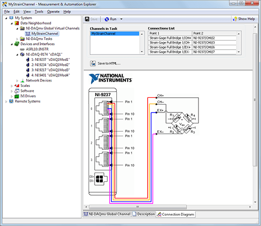 shunt resistor wiring diagram model railway dcc diagrams connecting strain gages to a daq device - national instruments