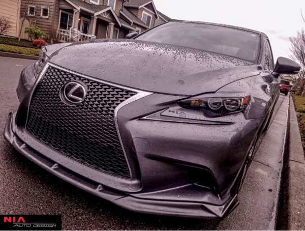 14-16 Lexus IS250 IS350 IS200T IS NIA Front Splitter 2014 2015 2016 3