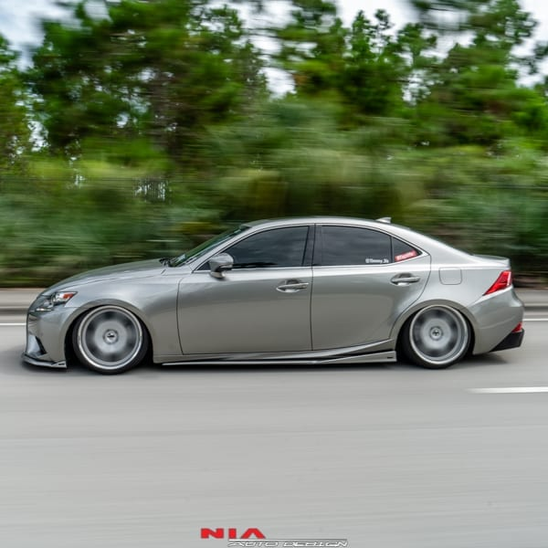 Lexus 3IS Side skirt splitters lip body kit