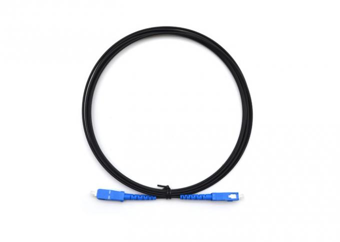 1 Core Drop Cable Fiber Optic Patch Cord 2.0mm * 3mm With