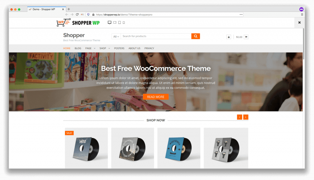 template ecommerce
