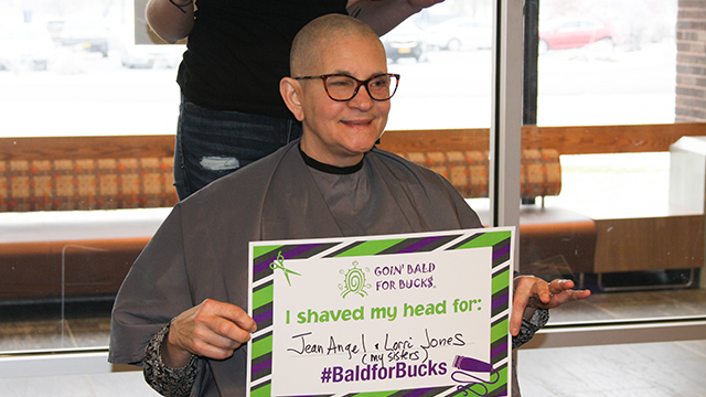 Dr. Kathy Gerbasi shaved her head to support Roswell Park Comprehensive Cancer