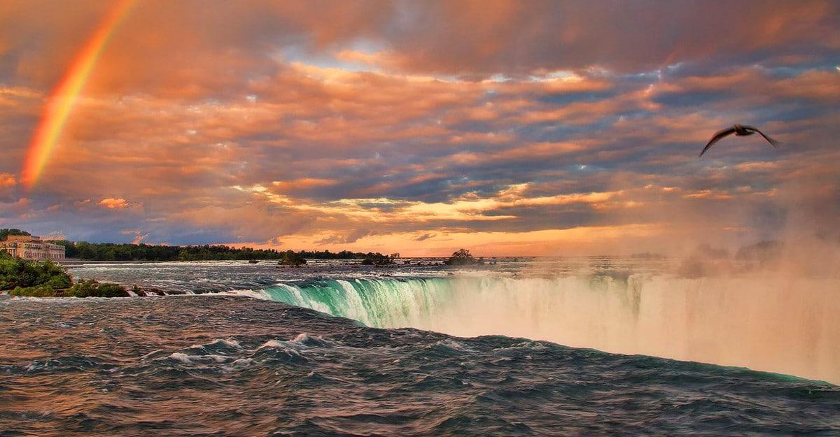 Niagara Falls 4k Wallpaper Niagara Falls Sunset Marriott Niagara Falls Hotel