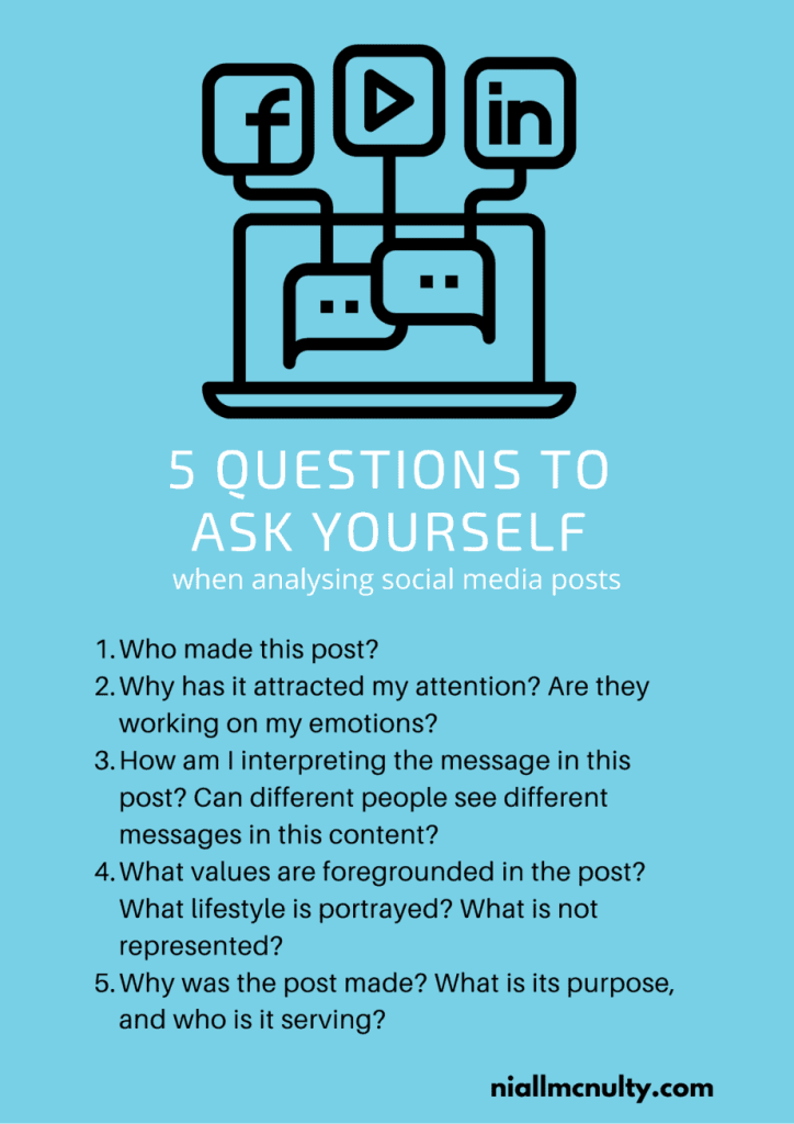5 questions to ask yourself when analysing social media posts