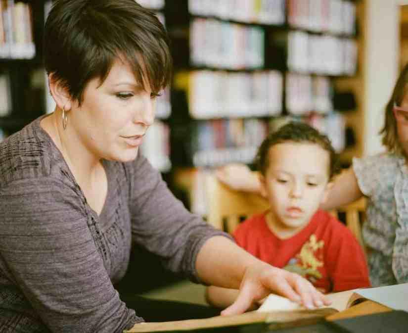 A Foundation Phase teacher in a classroom