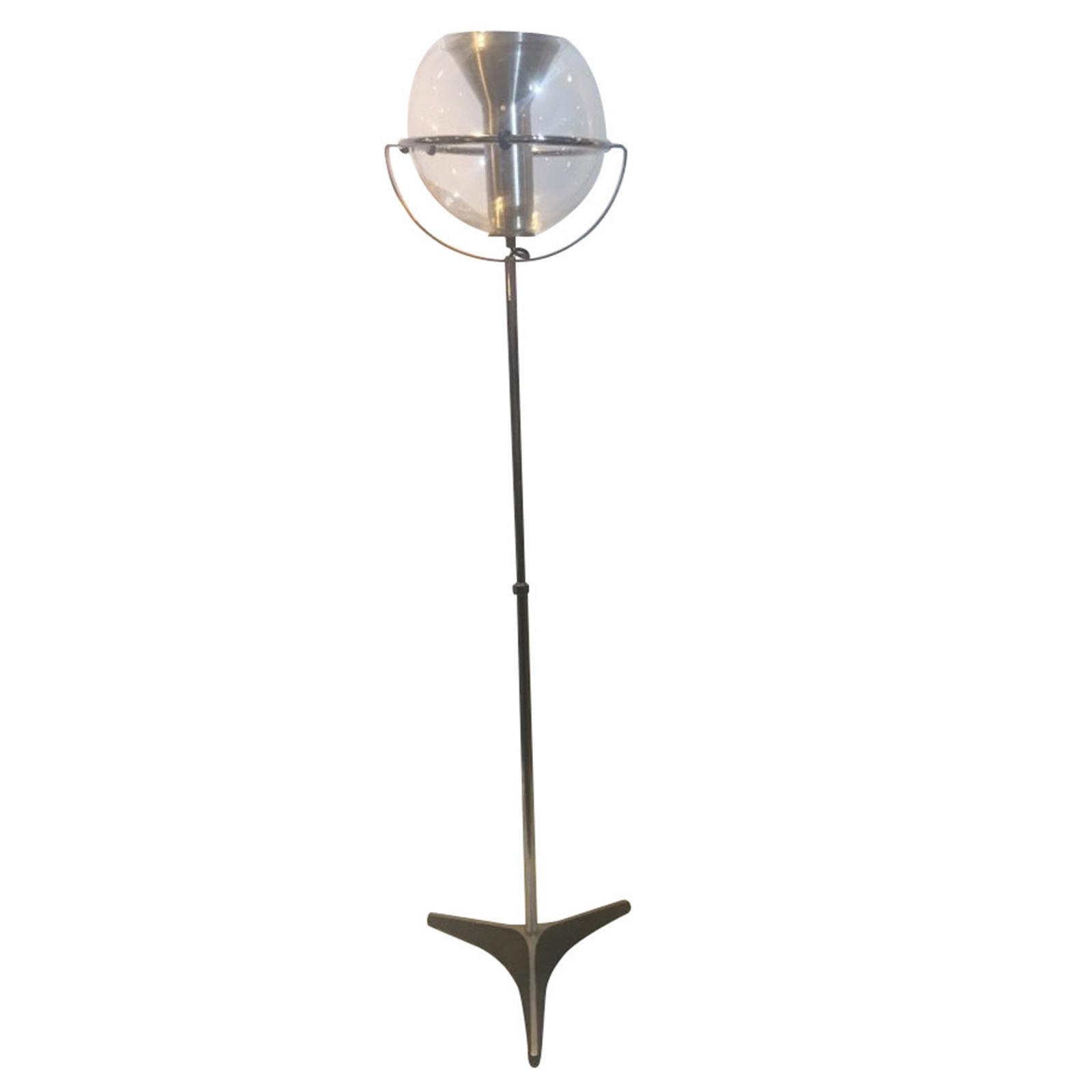 Cool Vintage Adjustable Chrome Standard Lamp