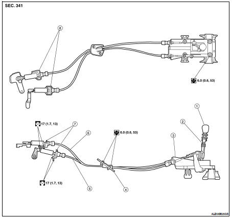 Service manual [2008 Nissan Frontier Shift Link Cable