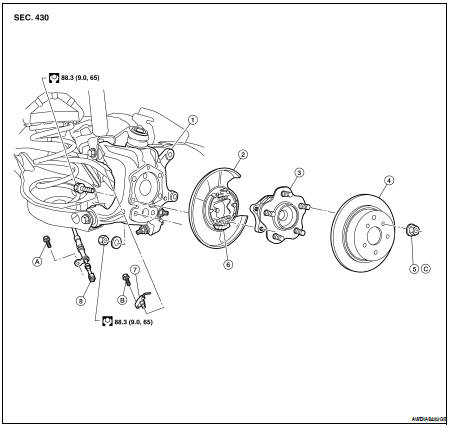 2009 Nissan Altima Rear Suspension Diagram. Nissan. Auto