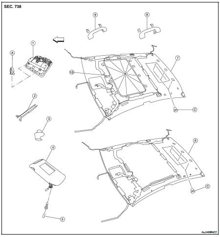 Nissan Murano Sunroof Parts Diagram. Nissan. Auto Parts