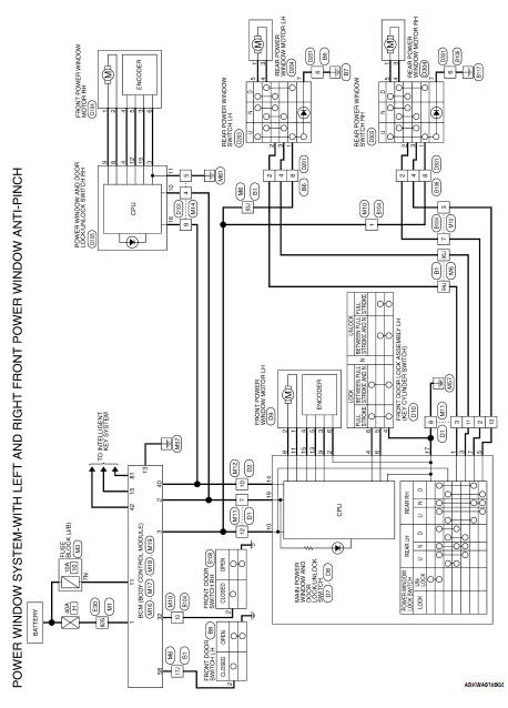 Nissan Altima 2007-2012 Service Manual: Power window main