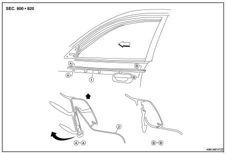 Nissan Altima 2007-2012 Service Manual: Door outside