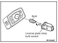 Nissan Altima 2007-2012 Service Manual: License plate lamp