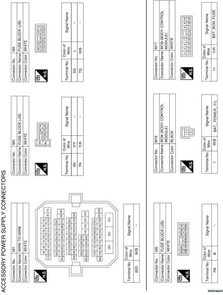 Nissan Altima 2007-2012 Service Manual: Power supply