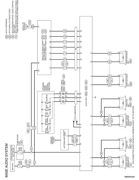 Nissan Altima 2007-2012 Service Manual: Audio unit (sedan