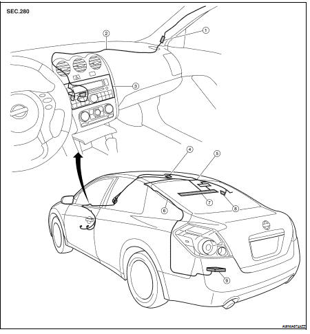 Nissan Altima 2007-2012 Service Manual: Audio antenna