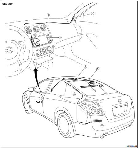 Nissan Altima 2007-2012 Service Manual: Audio antenna