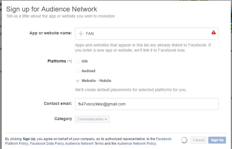 How to Apply and add Facebook Audience Network to your Website