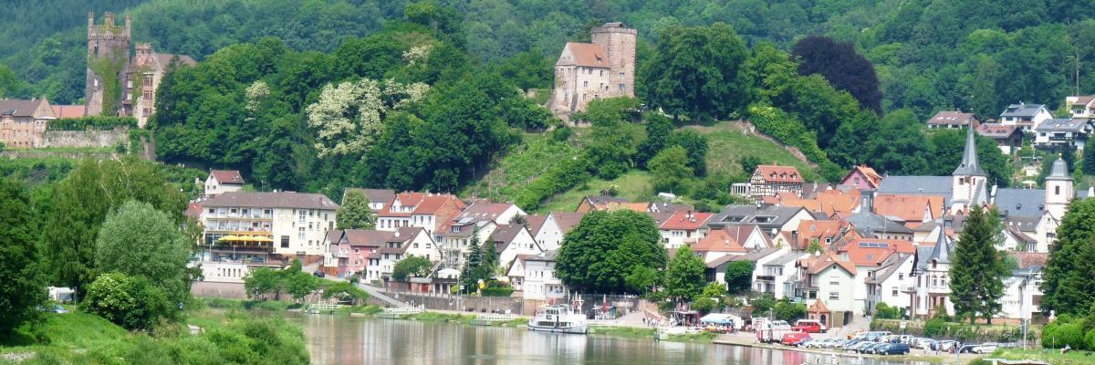 VierBurgenStadt Neckarsteinach im Neckartal