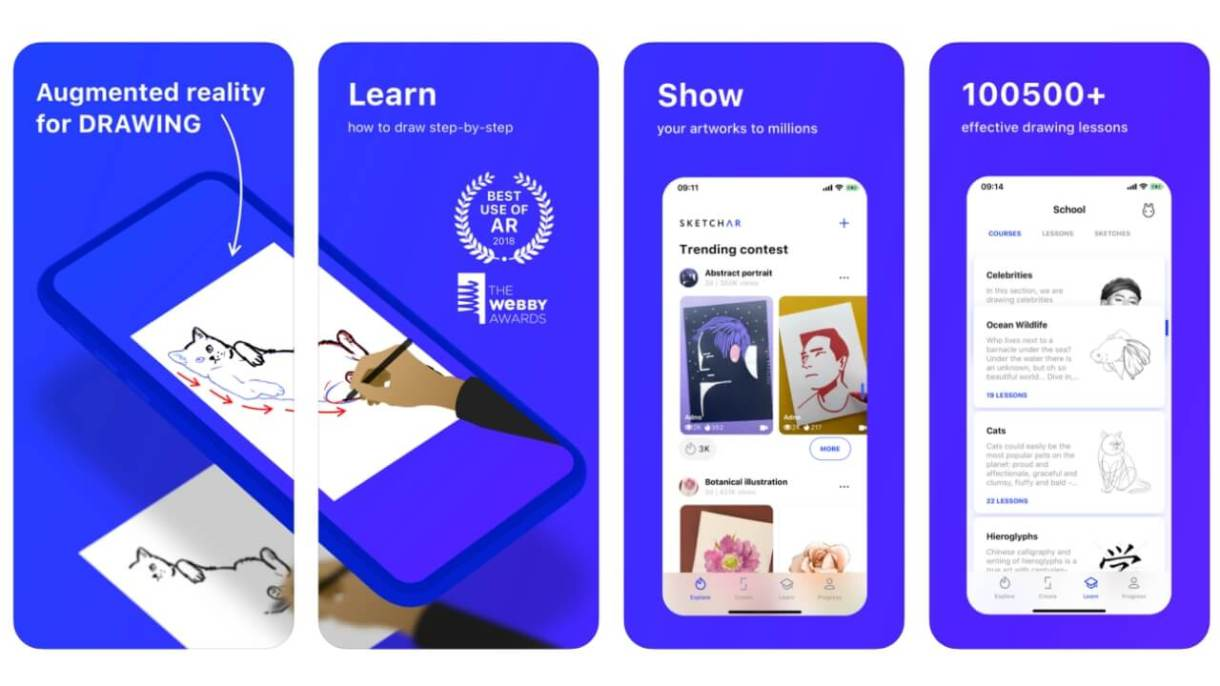 App realtà aumentata iPhone - SketchAR