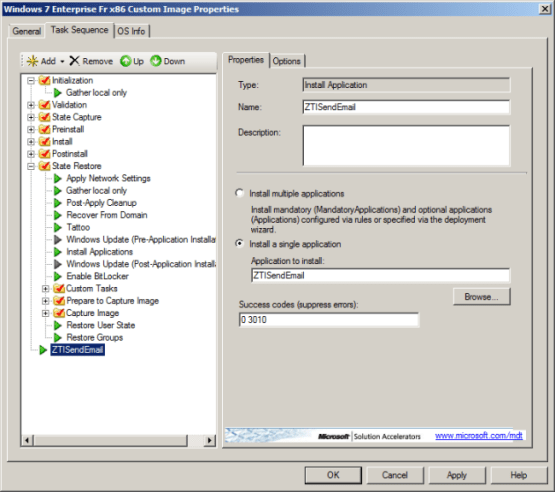 send email when MDT deployment is finished