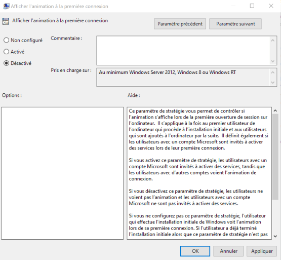 Disable first animation parameter
