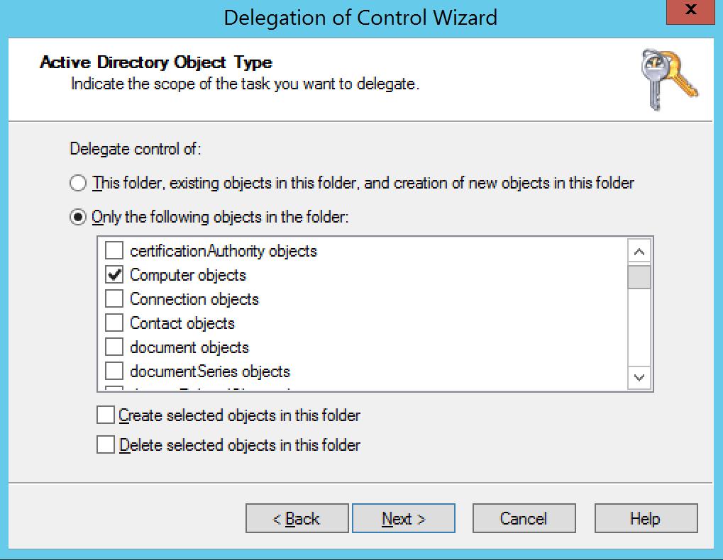Problem BitLocker Choose active directory type