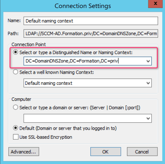 Connect to Active Directory
