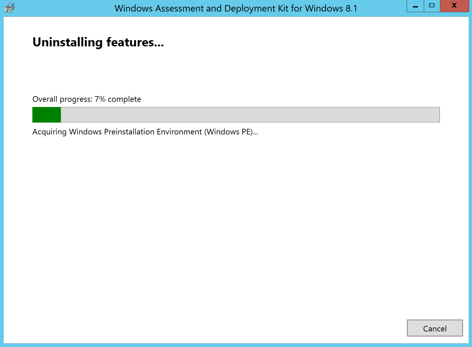 Update SCCM 2012 R2 to SCCM CB Uninstall Windows ADK