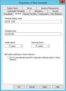 Configure Cloud Management Gateway Configure template certificate