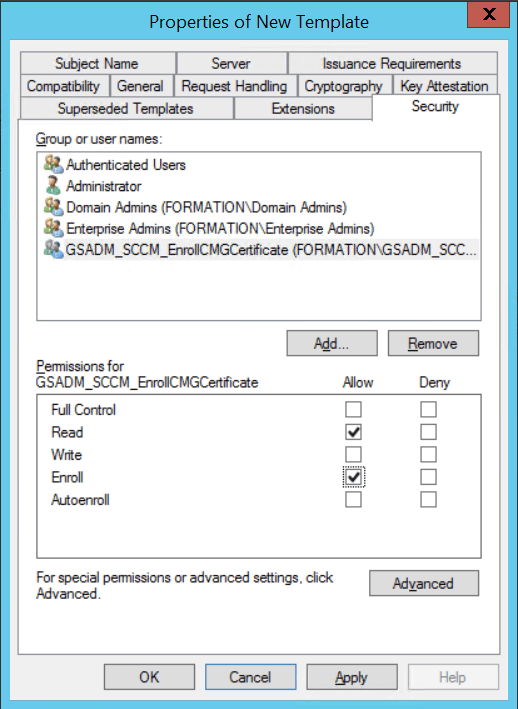 Configure CMG Gateway Add Security group