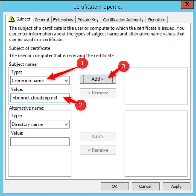 Configure Cloud Management Gateway Enter configuration
