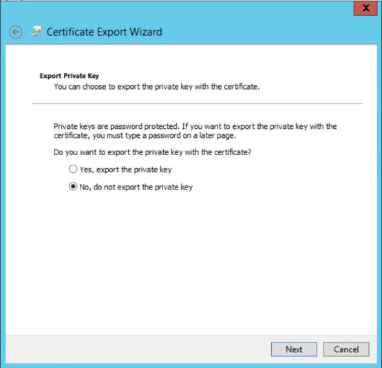 Configure CMG export certificate