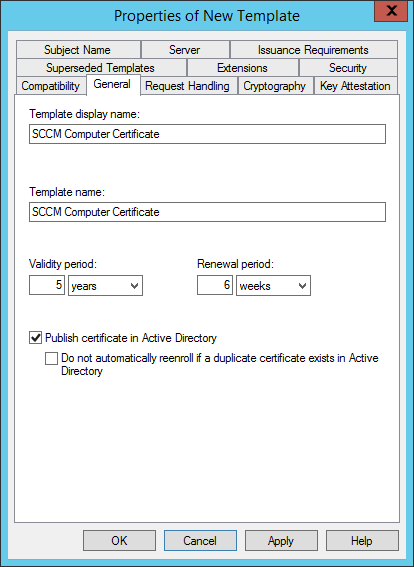 Configure CMG New template