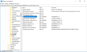 Configure registry key