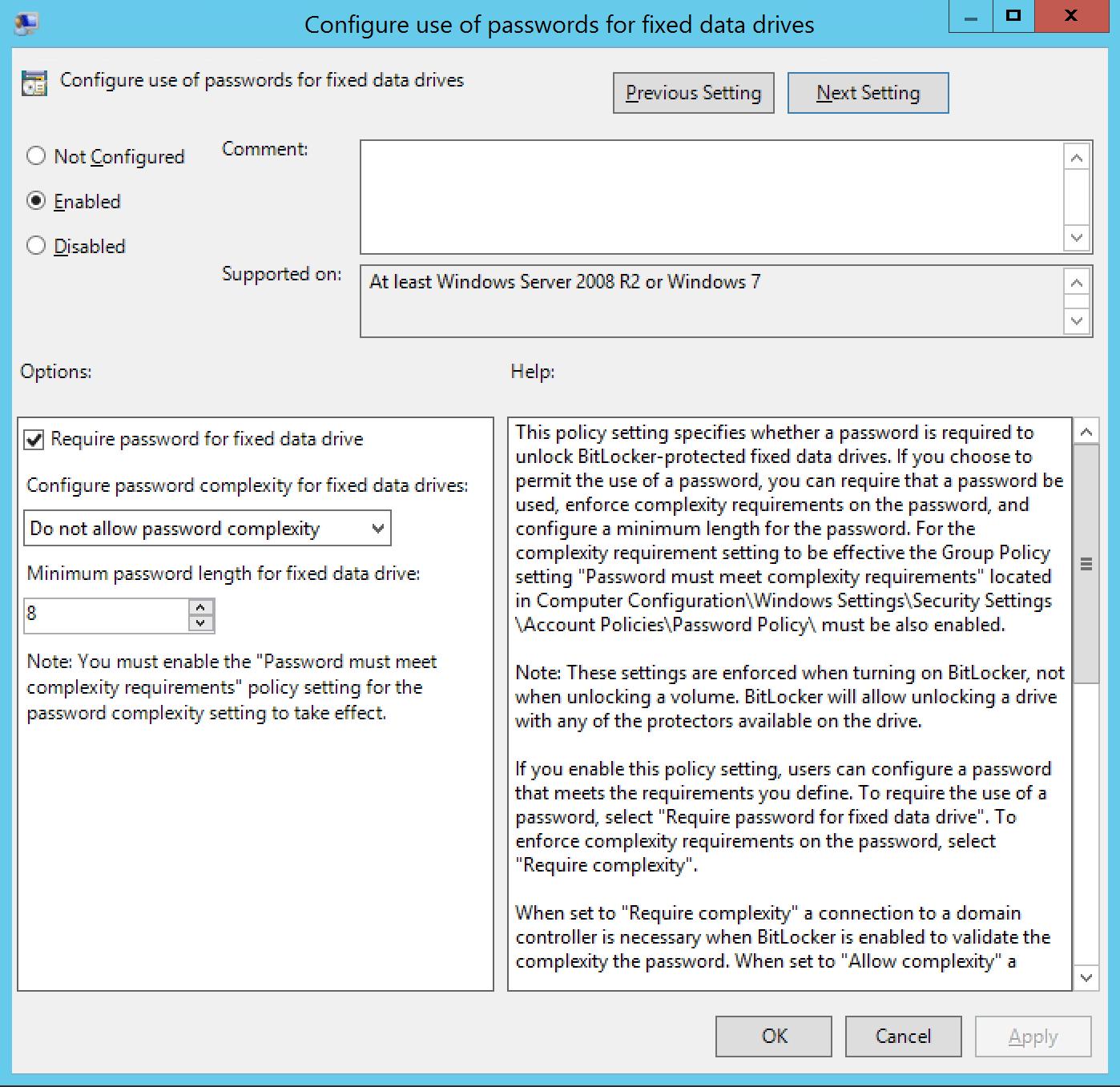 Configure use password