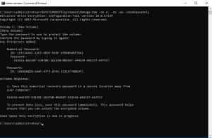 Activate Bitlocker on data partition