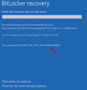 Recovery key ID